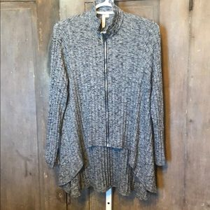 Sweaters - Comfy USA tunic high low zip front jacket